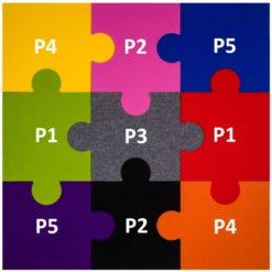 Zewnętrzny ŻÓŁTY puzzel korkowy P1 8x300x470mm