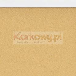 Tablica korkowa 70x70cm w ramie MDF Biała