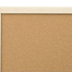 tablica korkowa w oprawie drewnianej